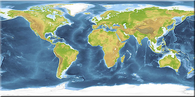 Land and Sea Earth texture map