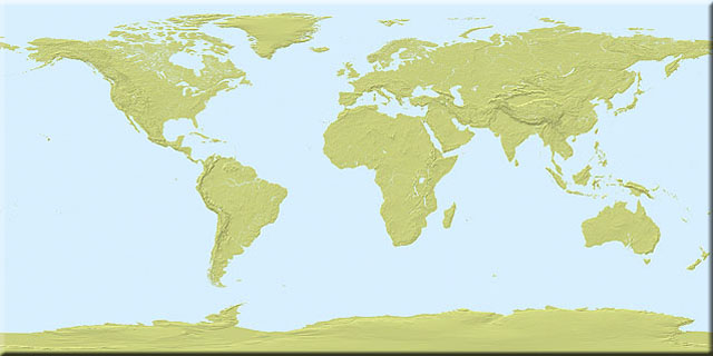 Two-tone shaded Earth texture map