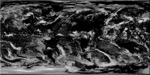 Earth clouds texture map