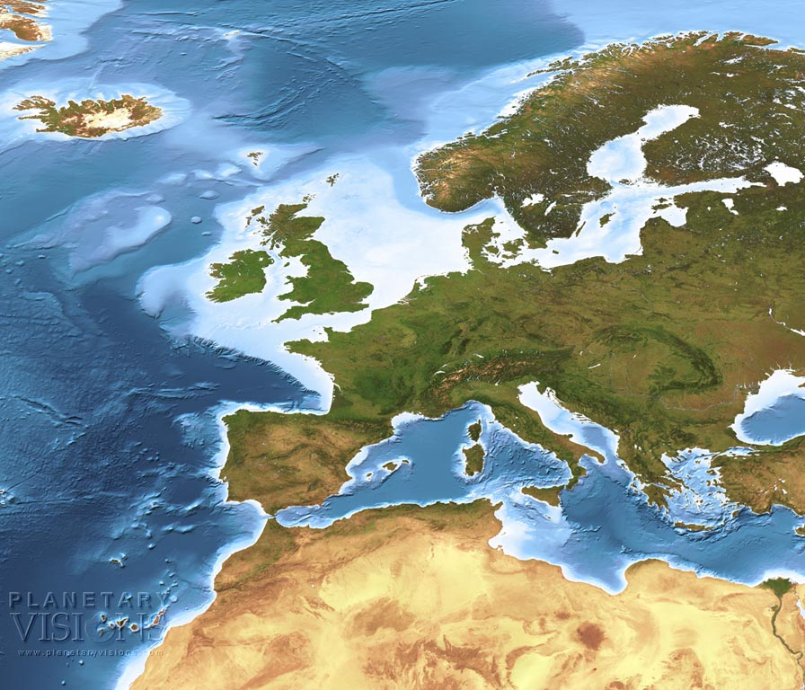 Europe / North Africa bathymetry
